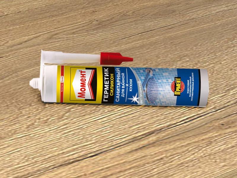 Герметик силиконовый санитарный Момент Санитарный 2002675