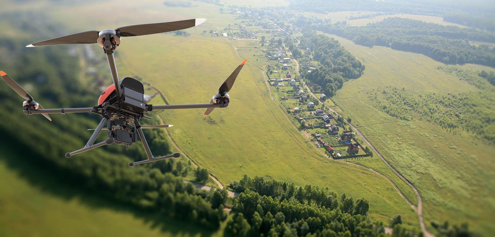 Аэросъемка с помощью дрона